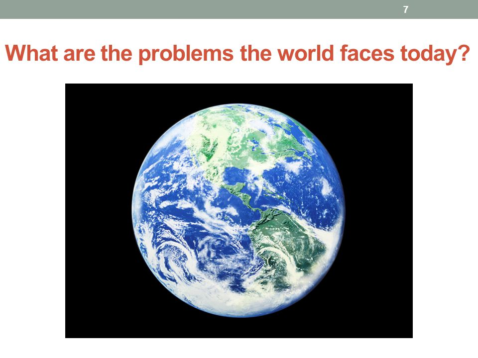What are the problems the world faces today