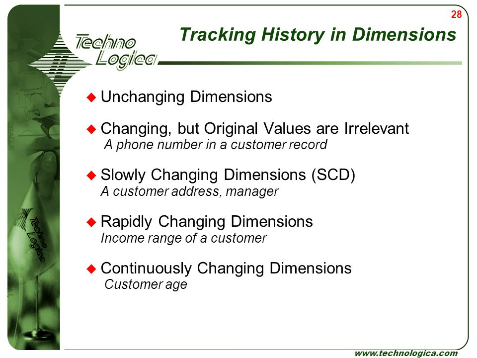 Tracking History in Dimensions