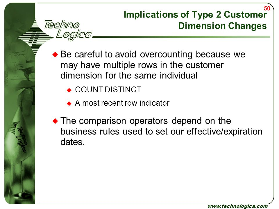 Implications of Type 2 Customer Dimension Changes