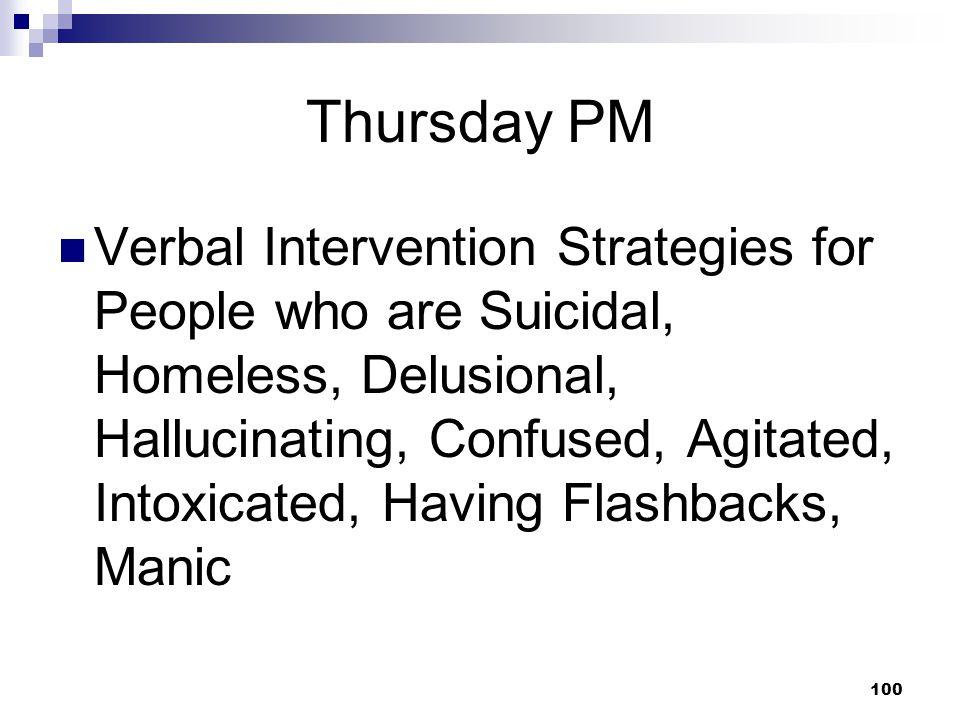 Thursday PM