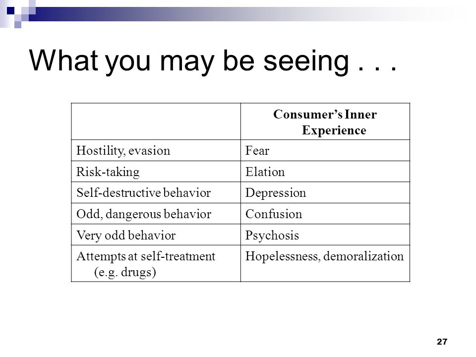 Consumer's Inner Experience