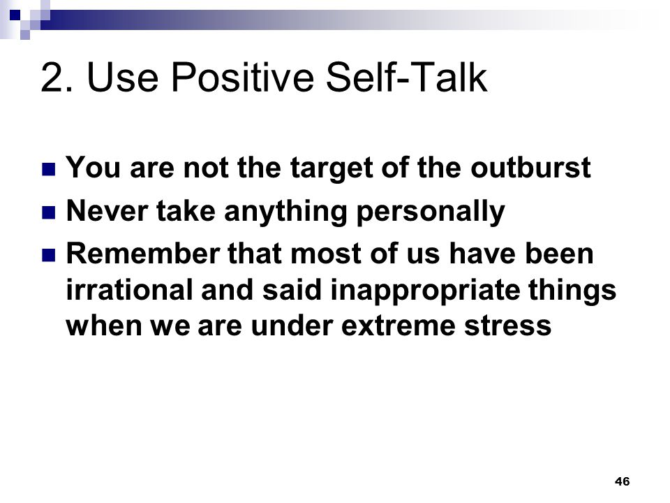 2. Use Positive Self-Talk
