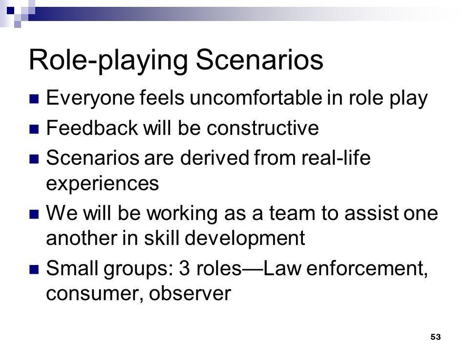 Role-playing Scenarios