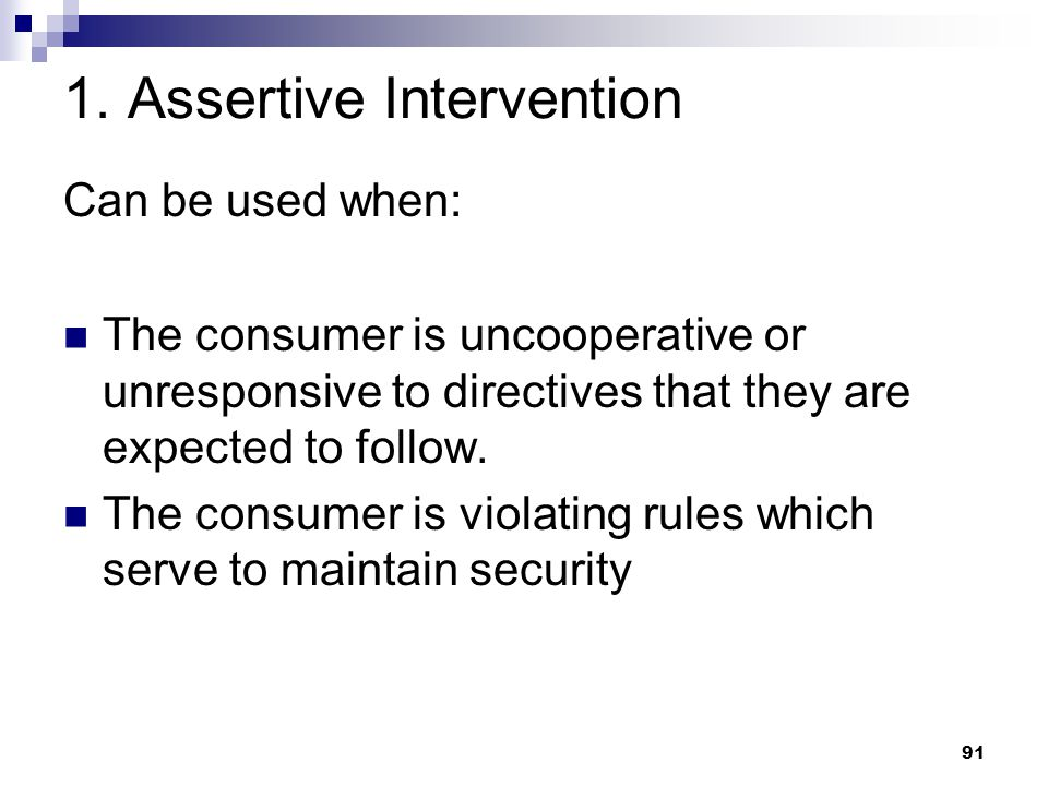 1. Assertive Intervention