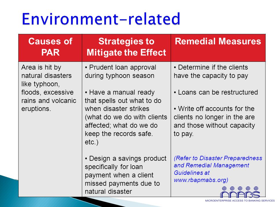 What causes PAR ENVIRONMENT PEOPLE PROCESS PRODUCT/ POLICY