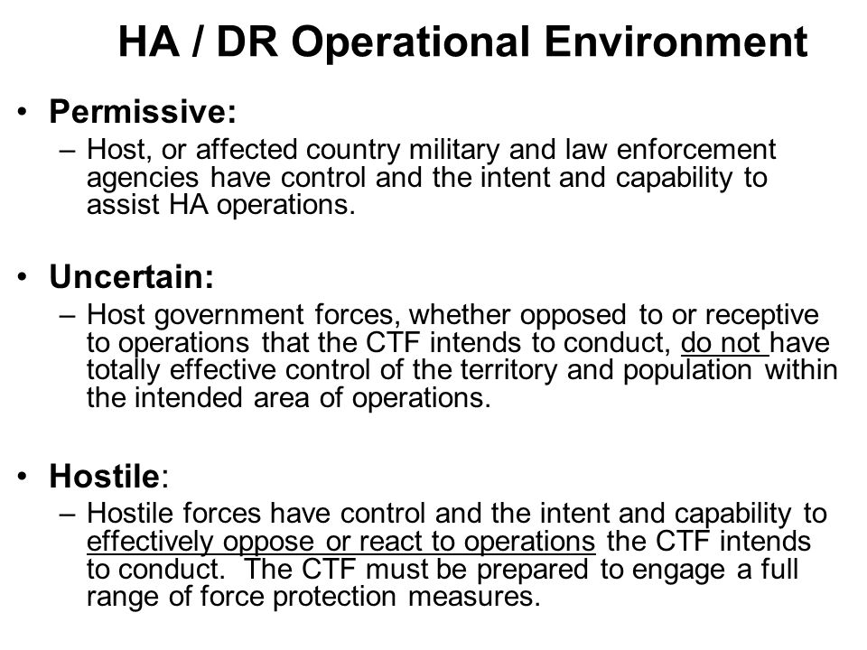 HA / DR Operational Environment