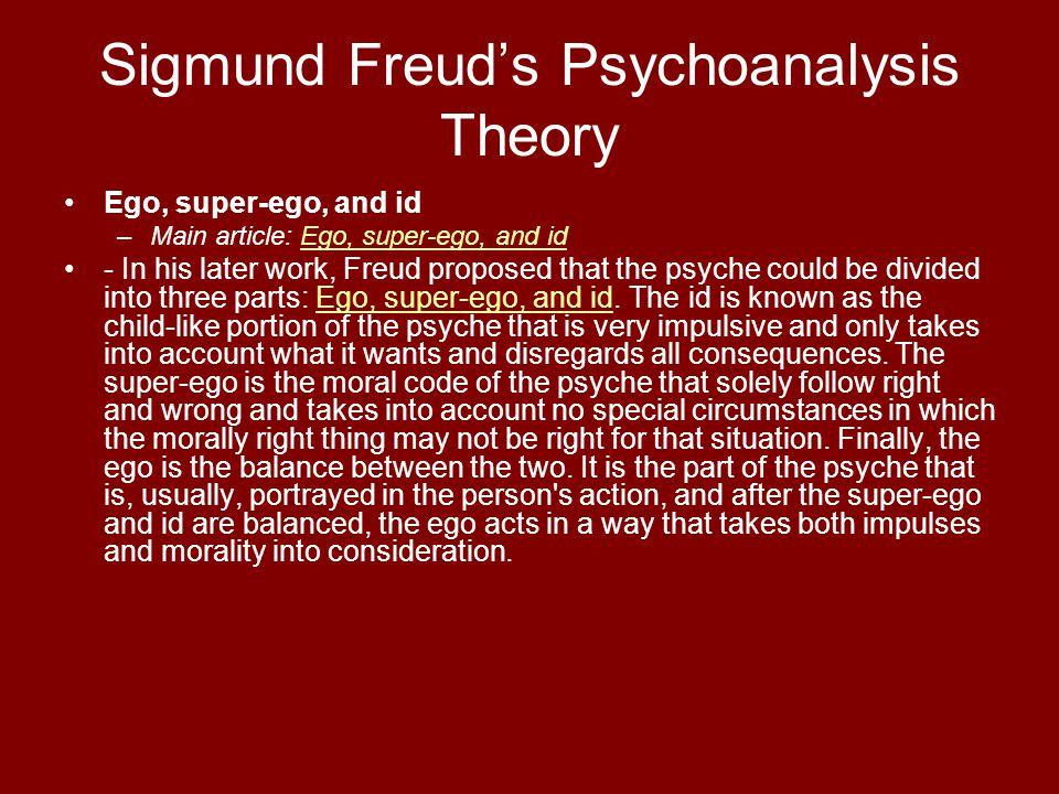Sigmund Freud's Psychoanalysis Theory