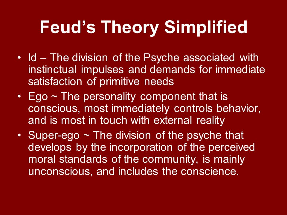 Feud's Theory Simplified