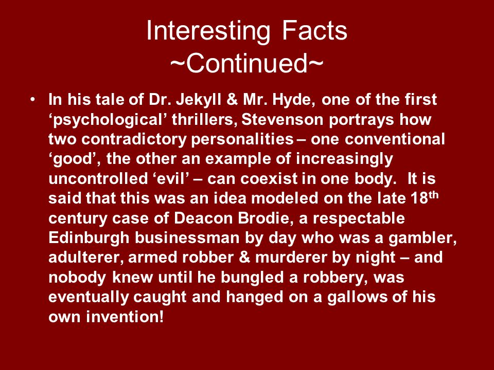 Interesting Facts ~Continued~