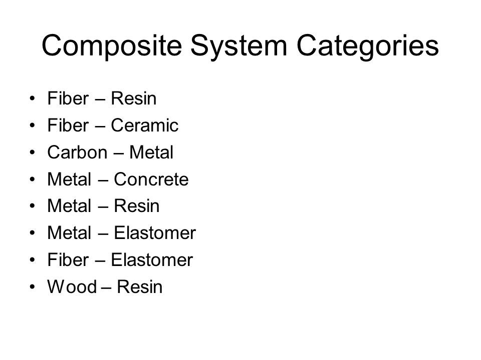 Composite System Categories