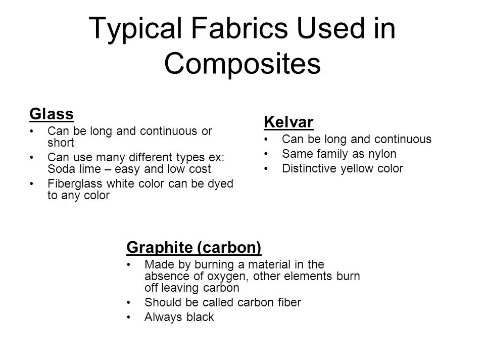 Typical Fabrics Used in Composites