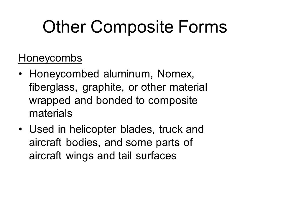 Other Composite Forms Honeycombs