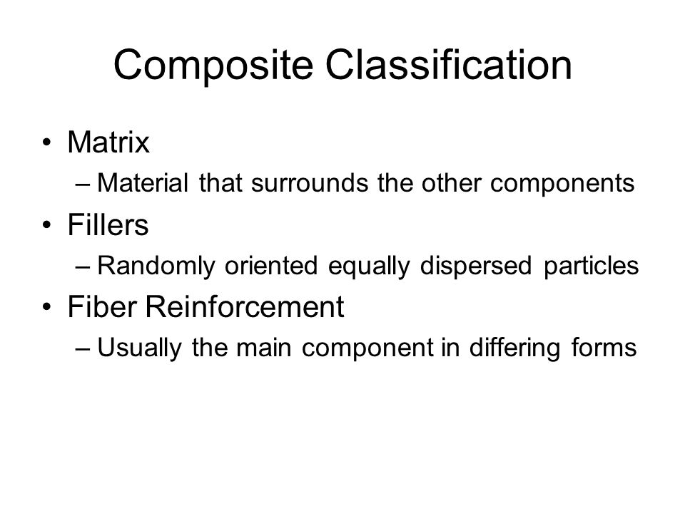 Composite Classification