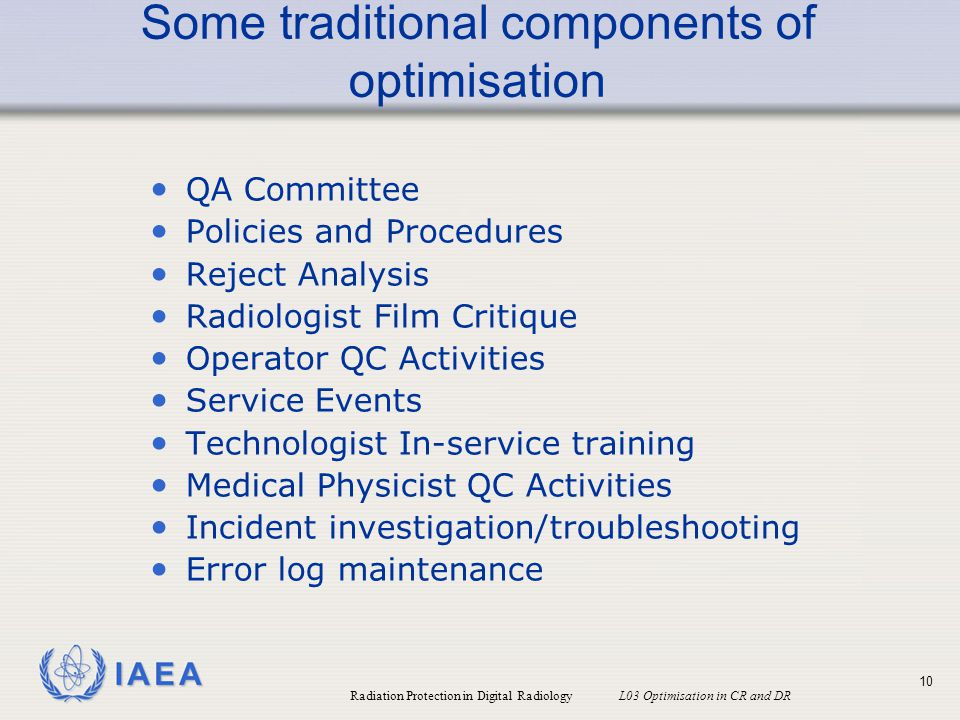 Some traditional components of optimisation