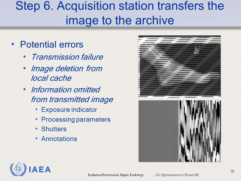 Step 6. Acquisition station transfers the image to the archive