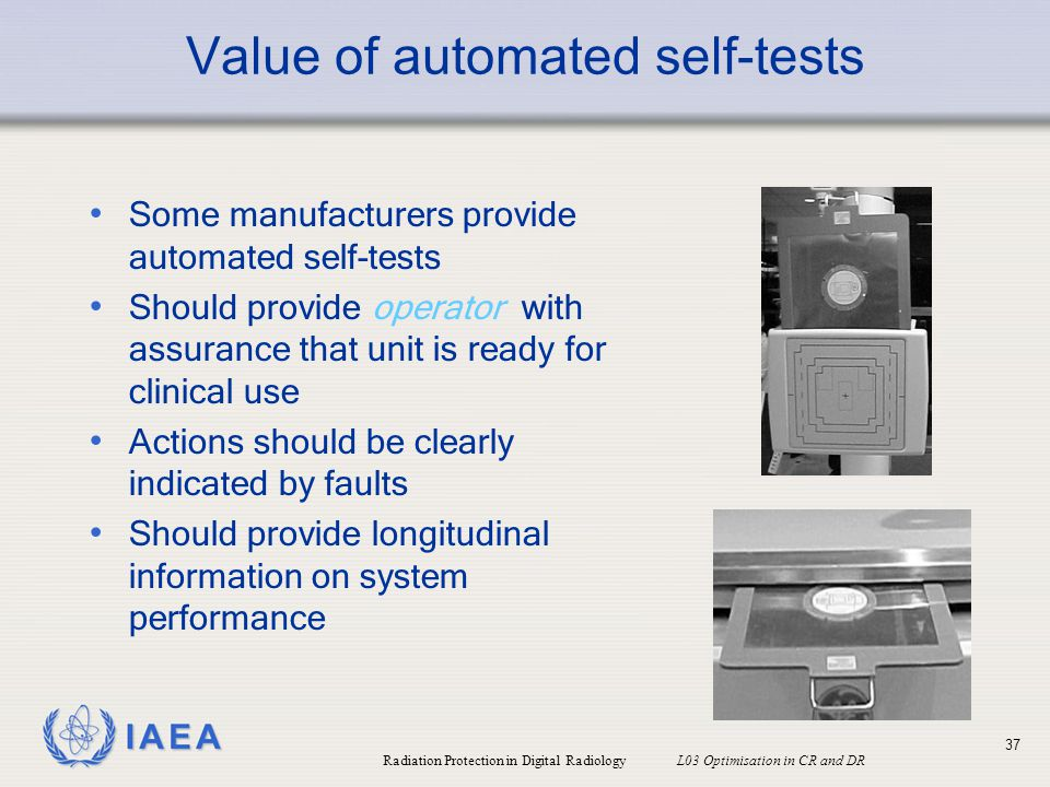 Value of automated self-tests