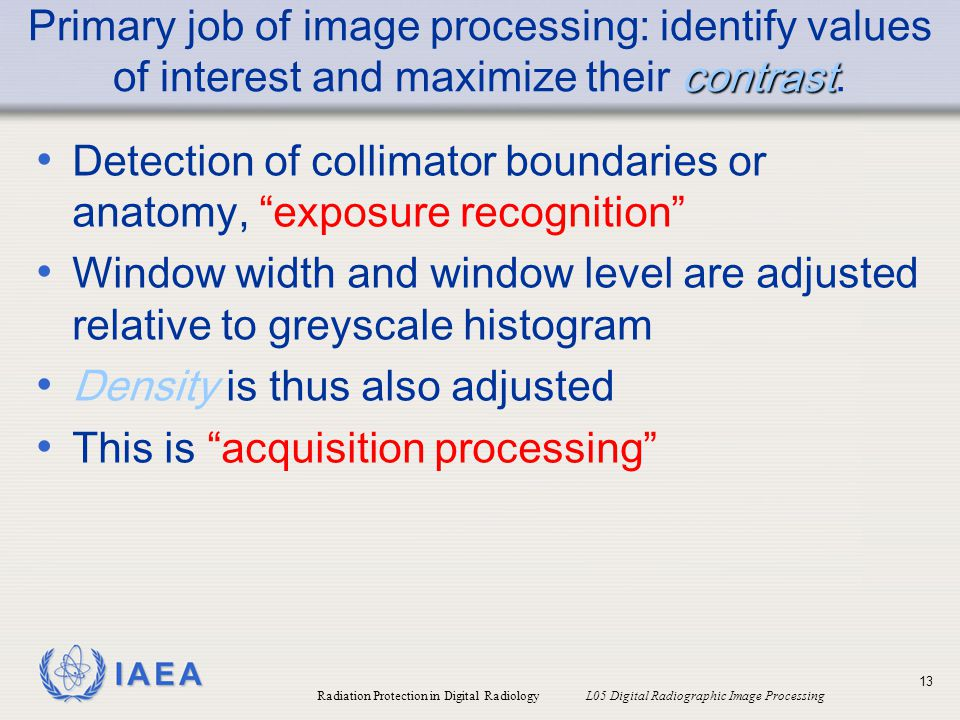 Detection of collimator boundaries or anatomy, exposure recognition