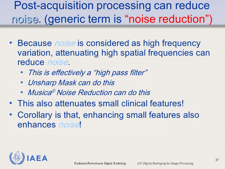 Post-acquisition processing can reduce noise