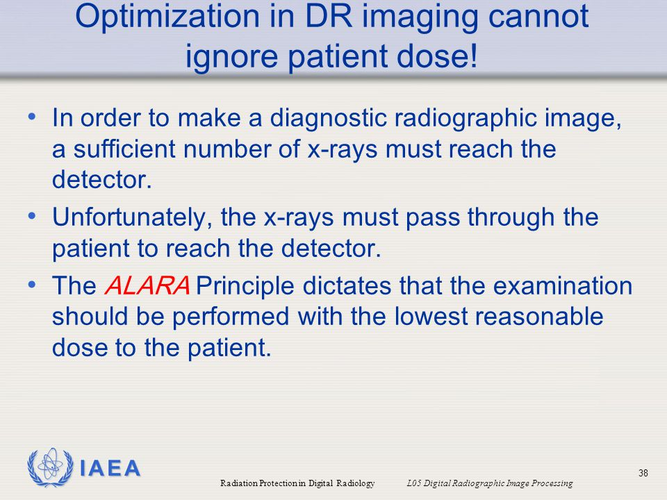 Optimization in DR imaging cannot ignore patient dose!