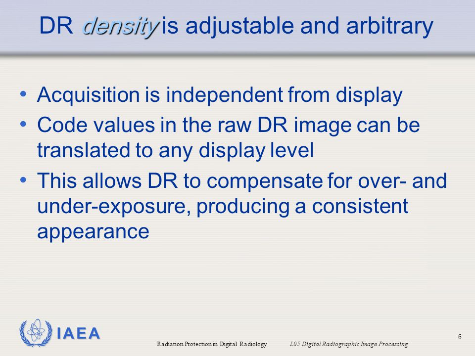 DR density is adjustable and arbitrary
