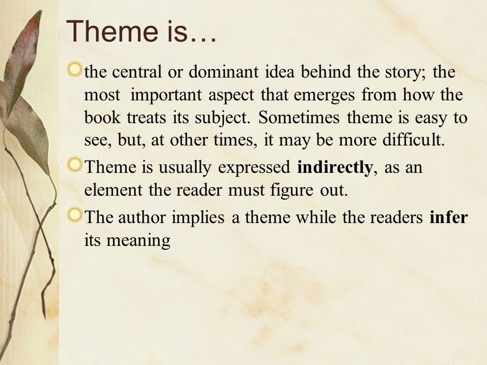 Theme is…