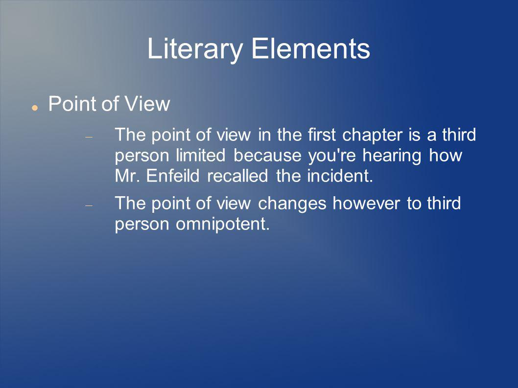 Literary Elements Point of View