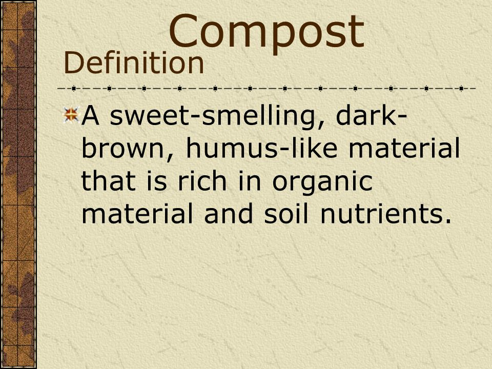 Waste and recycling notes waste disposal ppt download for Organic soil definition