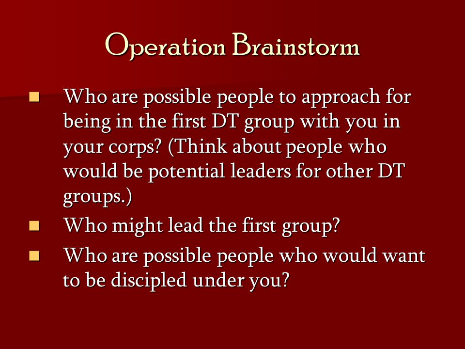 Operation Brainstorm