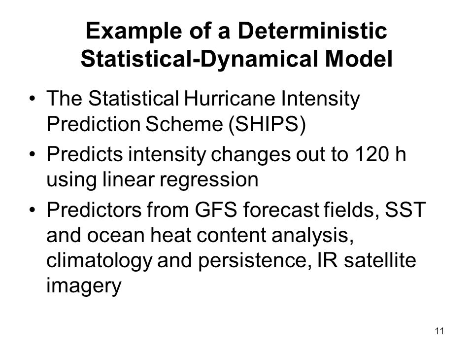 Example of a Deterministic Statistical-Dynamical Model