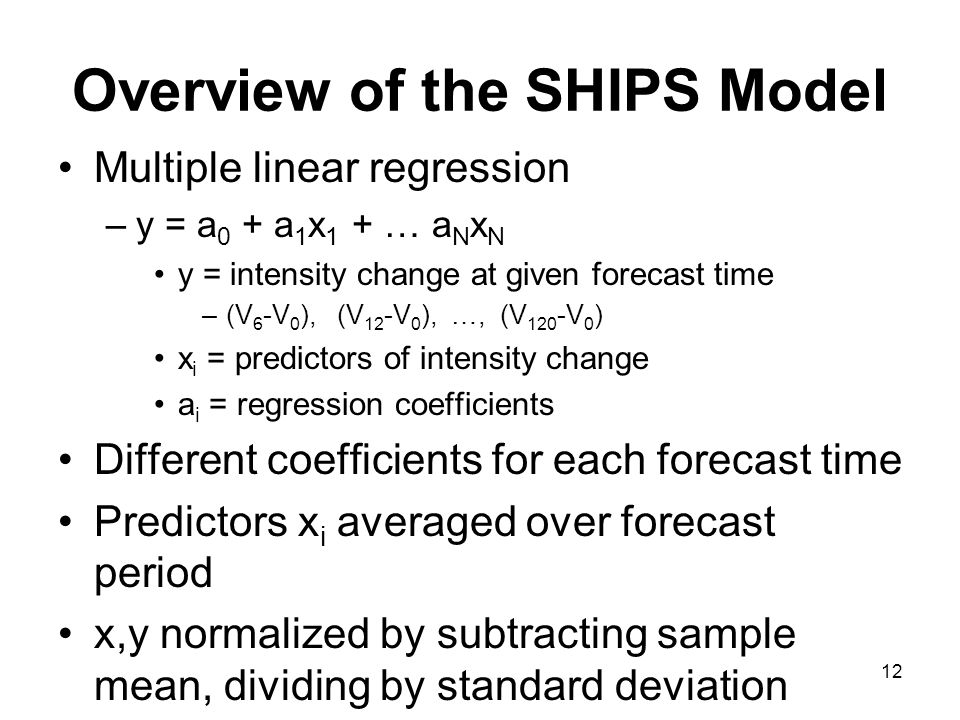 Overview of the SHIPS Model