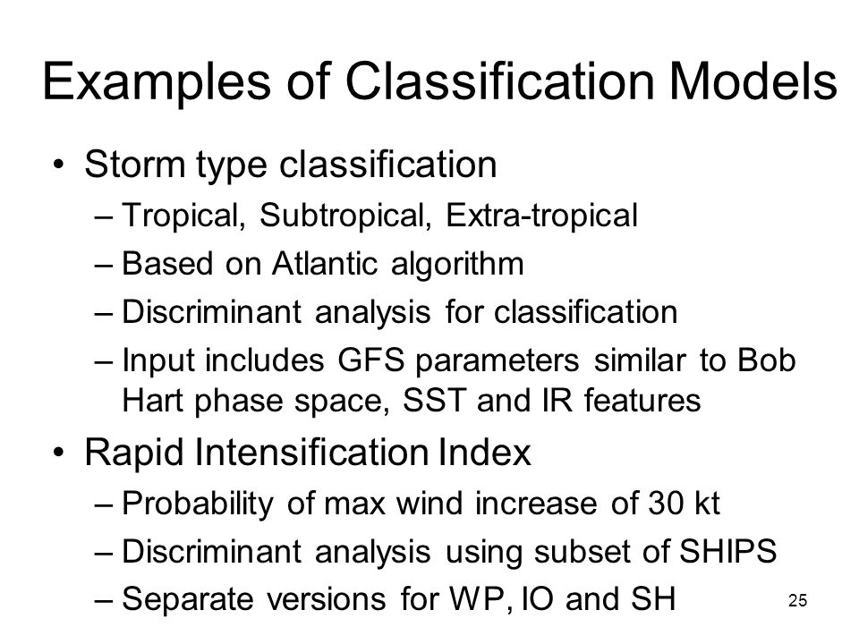 Examples of Classification Models