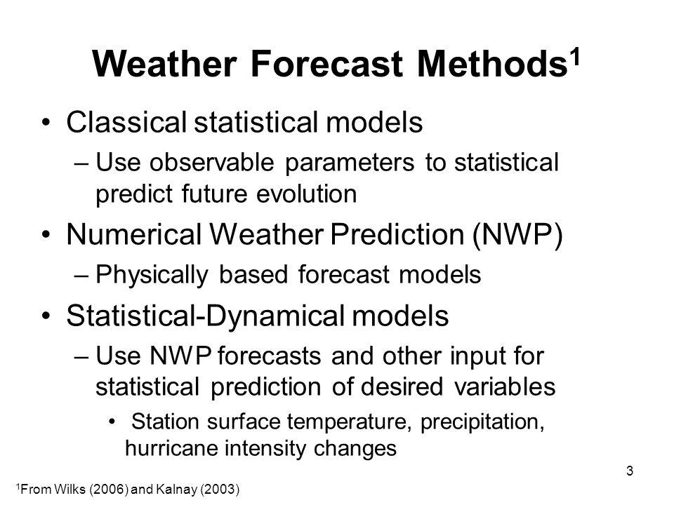 Weather Forecast Methods1