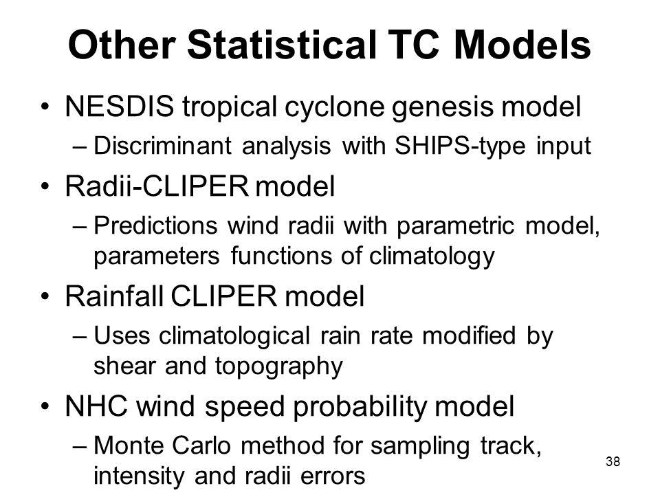 Other Statistical TC Models