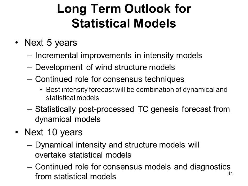 Long Term Outlook for Statistical Models