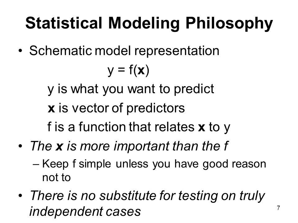 Statistical Modeling Philosophy