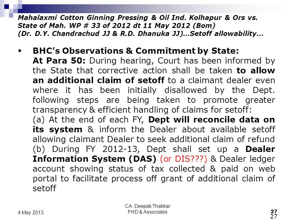 CA Deepak Thakkar PHD & Associates