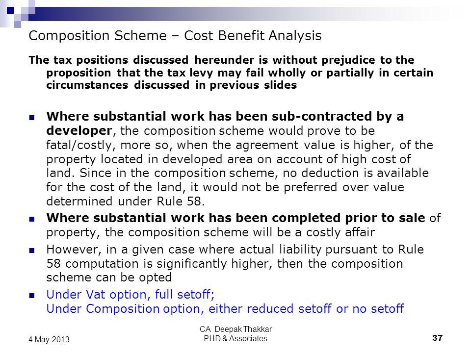 Composition Scheme – Cost Benefit Analysis