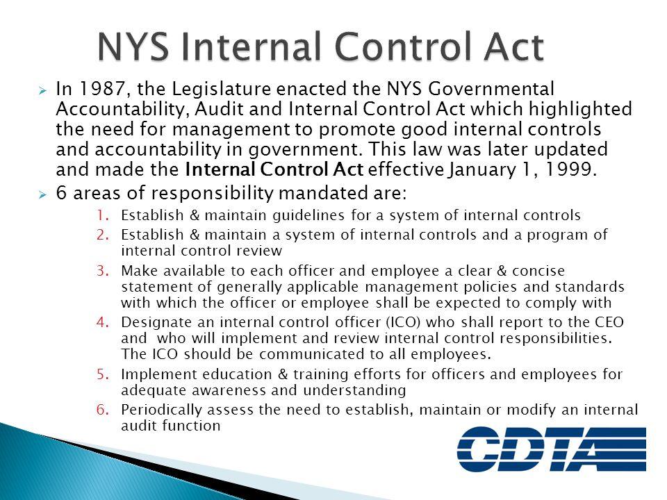NYS Internal Control Act