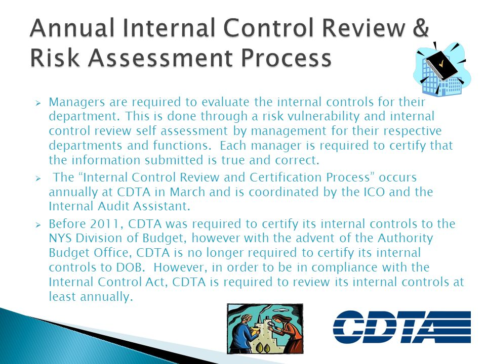 Annual Internal Control Review & Risk Assessment Process