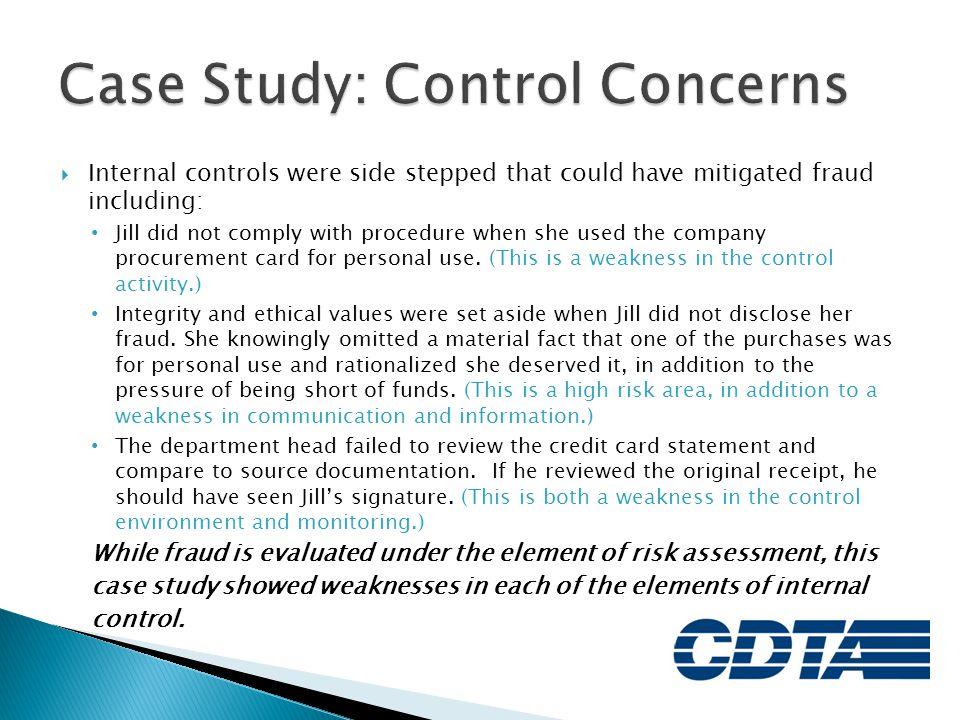 Case Study: Control Concerns