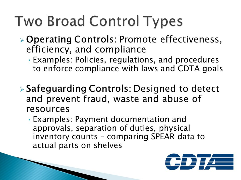 Two Broad Control Types