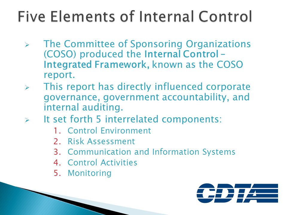 Five Elements of Internal Control