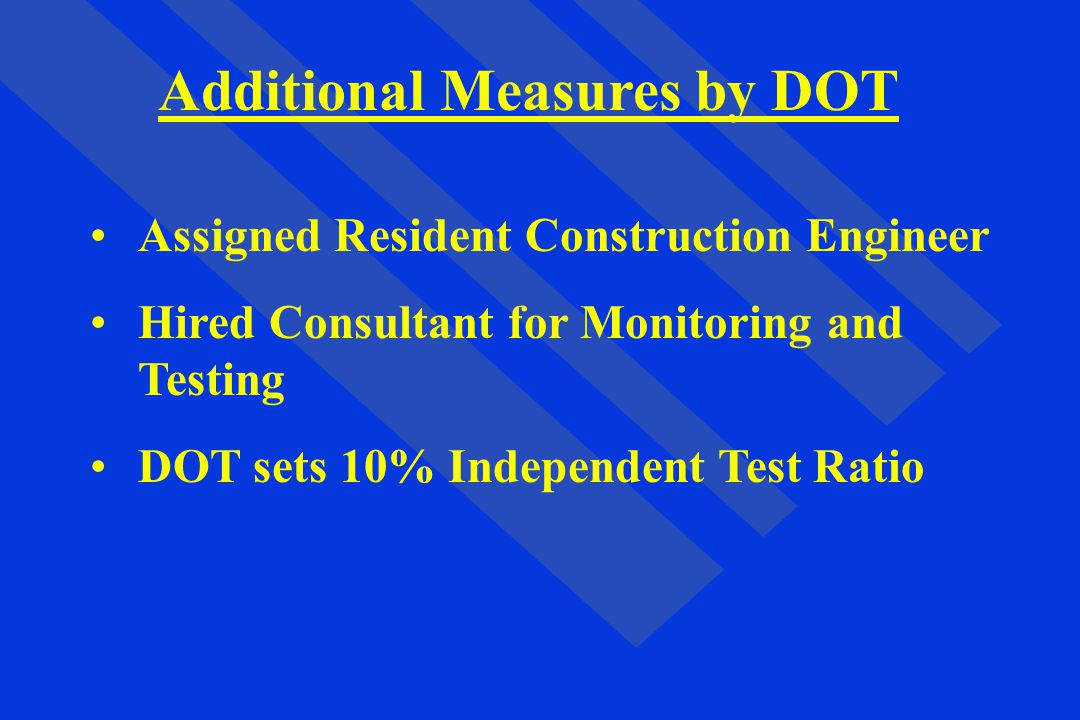 Additional Measures by DOT