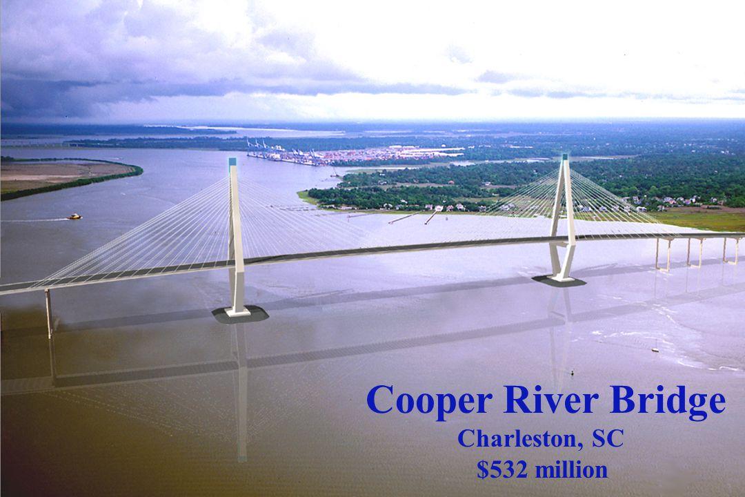 Cooper River Bridge Charleston, SC $532 million
