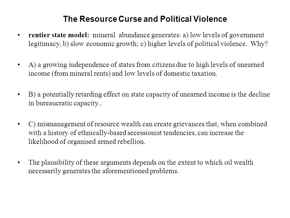 The Resource Curse and Political Violence