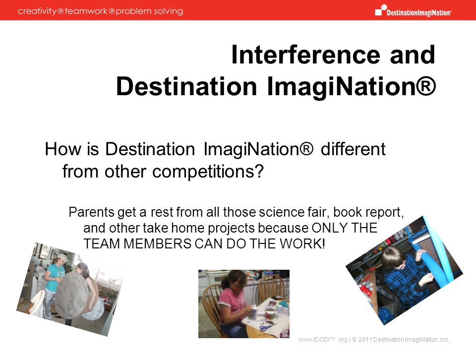 Interference and Destination ImagiNation®