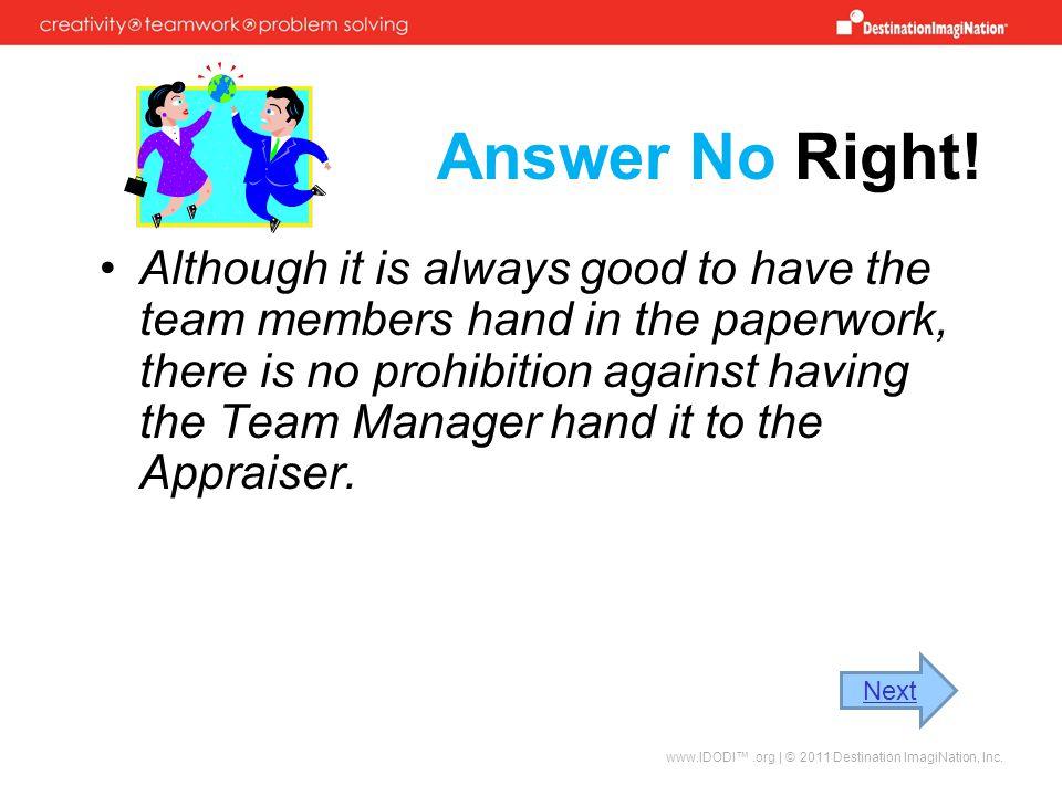 Answer No Right!