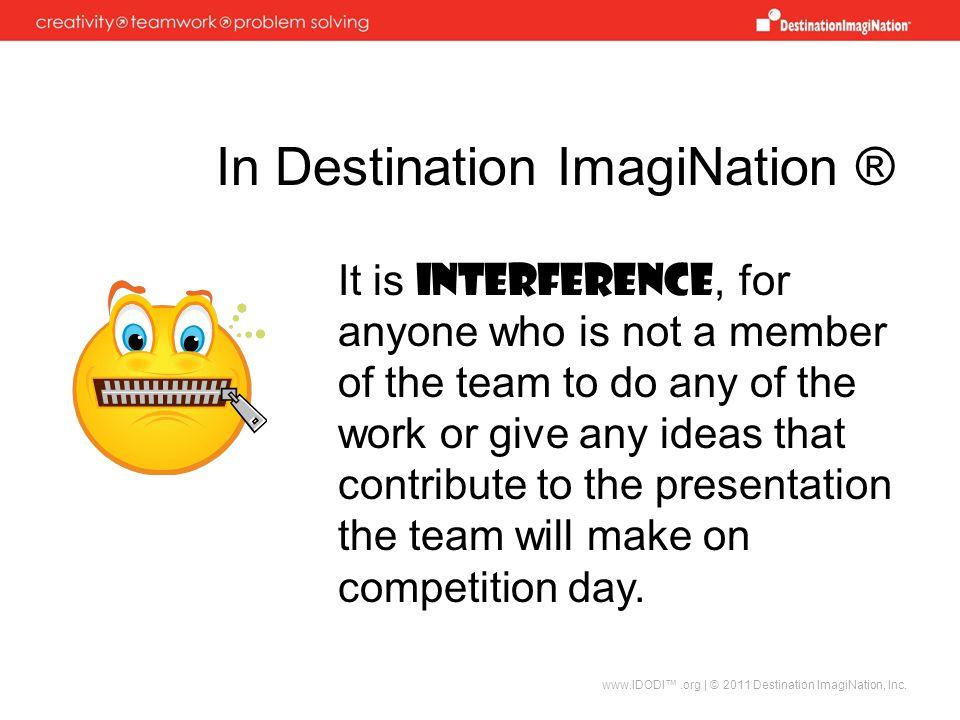 In Destination ImagiNation ®