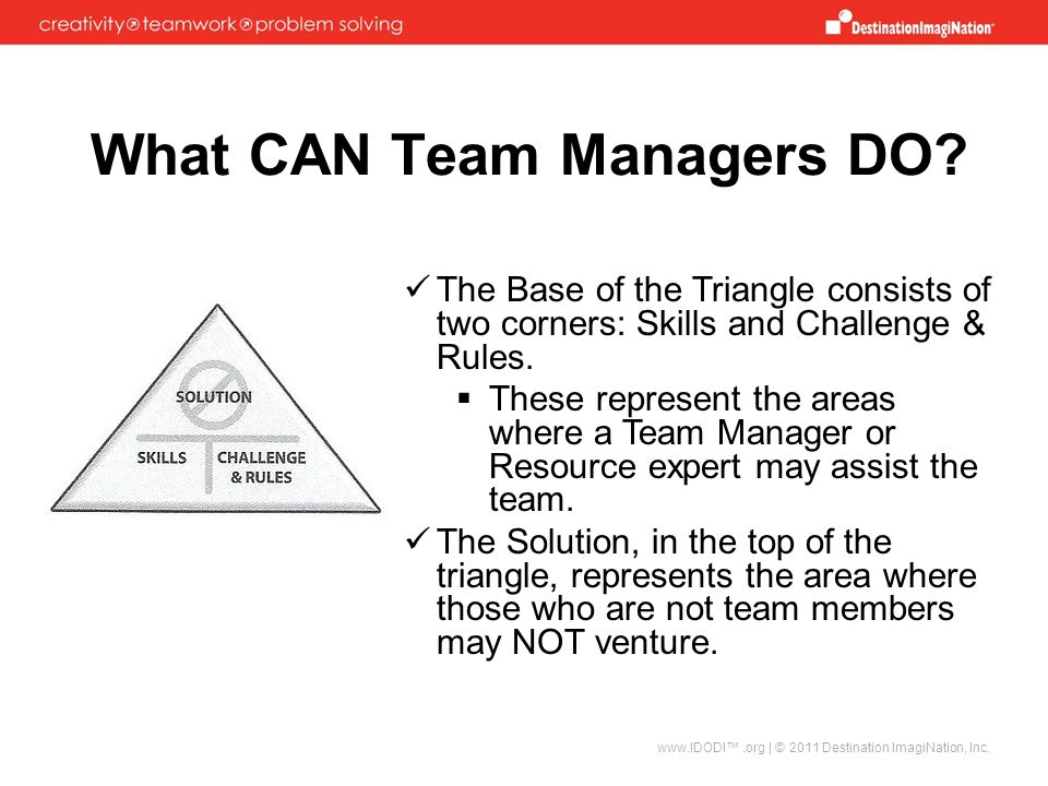 What CAN Team Managers DO