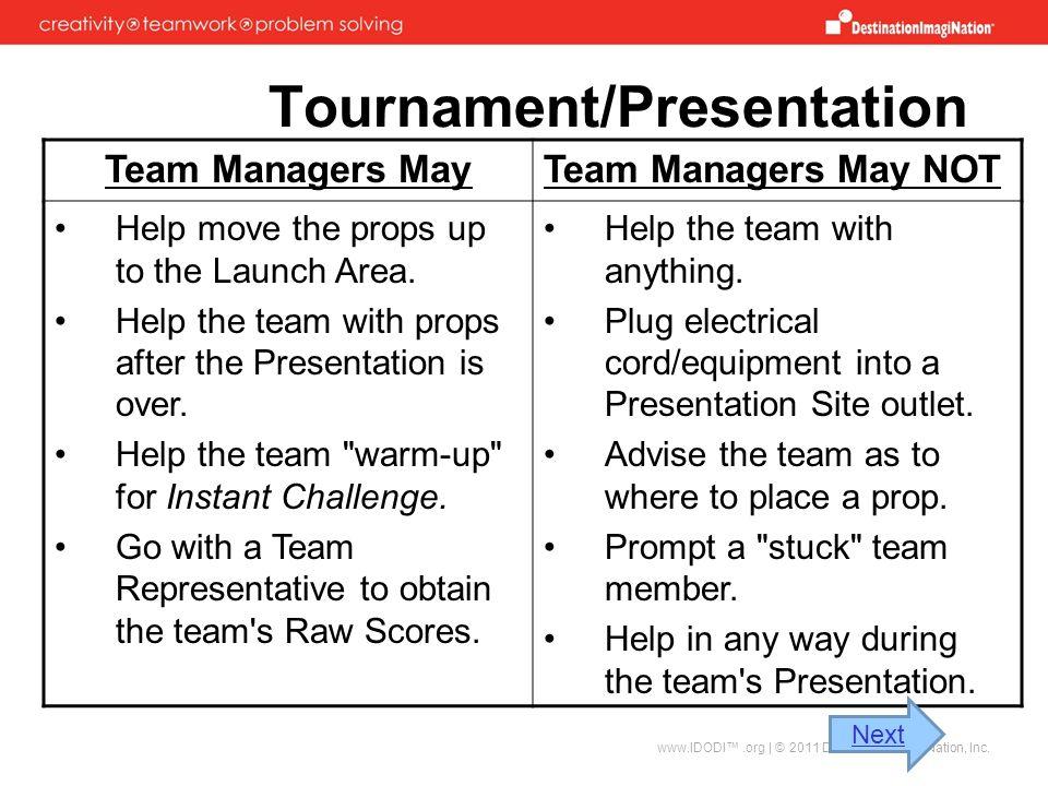 Tournament/Presentation